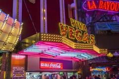 Las Vegas Fremont gataerfarenhet Royaltyfri Fotografi