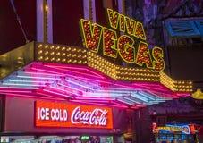 Las Vegas Fremont gataerfarenhet Royaltyfri Bild