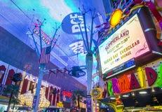 Las Vegas, Fremont-Straatervaring Stock Fotografie