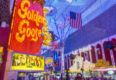 Las Vegas, Fremont-Straatervaring Stock Afbeeldingen