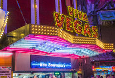 Las Vegas, Fremont-Straatervaring Stock Foto's