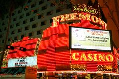 Las Vegas Fremont Streetat natt i Las Vegas, Nevada Nevada USA Arkivbild