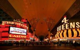 Las Vegas Fremont Streetat natt i Las Vegas, Nevada Nevada USA Arkivfoton