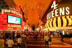 Las Vegas Fremont Streetat Night in Las Vegas, Nevada. Nevada USA. stock photography