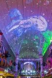 Las Vegas, Fremont Uliczny doświadczenie Obraz Royalty Free