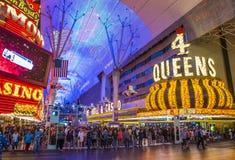 Las Vegas, Fremont Uliczny doświadczenie Fotografia Stock