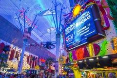Las Vegas, Fremont Uliczny doświadczenie Zdjęcia Royalty Free