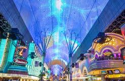 Las Vegas, Fremont Uliczny doświadczenie Obrazy Stock