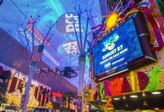 Las Vegas, Fremont Uliczny doświadczenie Obrazy Royalty Free