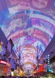 Las Vegas, Fremont Uliczny doświadczenie Zdjęcie Royalty Free