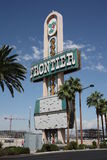 Las Vegas - Frontier Hotel Marquee. Old Sign from demolished Frontier Hotel on the strip Royalty Free Stock Images