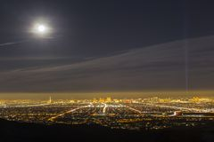 Las Vegas Full Moon Stock Photo