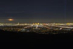 Las Vegas Full Moon Rising Stock Images