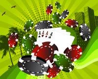 Las Vegas gambling background Stock Image