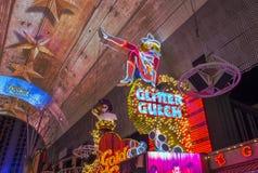 Las Vegas , Glitter Gulch Royalty Free Stock Images
