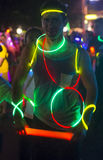Las Vegas Glow run Stock Photo