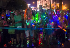 Las Vegas Glow run Stock Photos