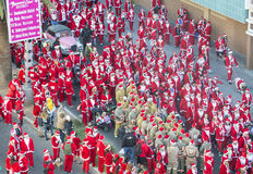 Las Vegas gran Santa Run imágenes de archivo libres de regalías