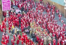 Las Vegas große Santa Run lizenzfreie stockbilder