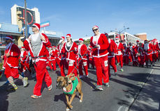 Las Vegas große Santa Run lizenzfreies stockfoto