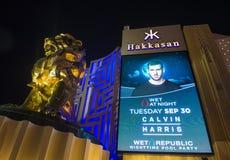 Las Vegas, Hakkasan nocy klub obrazy royalty free
