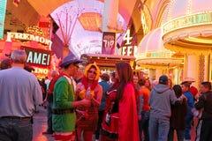 Las Vegas Halloween walking royalty free stock image