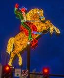 Las Vegas, het Hacienda-Paard en het Ruiterteken Stock Afbeeldingen
