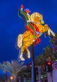 Las Vegas, het Hacienda-Paard en het Ruiterteken Stock Foto's