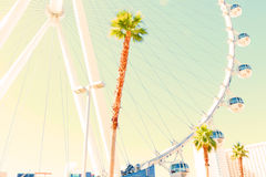 The Las Vegas High roller. The High Roller ferries wheel in Las Vegas Stock Photography