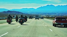 Las Vegas. On the highway out of Las Vegas Royalty Free Stock Photography
