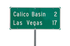Las Vegas Highway Sign Isolated Stock Photo