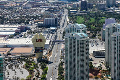 Las Vegas Hilton sign, Las Vegas, NV. Stock Photo