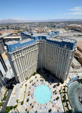 Las Vegas Hotel Paris aerial view Royalty Free Stock Images