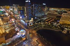 Las Vegas, hotel y casino, zona metropolitana, paisaje urbano, ciudad, zona urbana de Bellagio foto de archivo