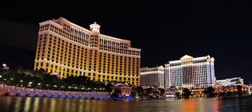 Las Vegas hotels panorama. With bellagio and caesars casino stock photos