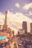 Las Vegas Hotels and Resorts on Sunny Day royalty free stock photo