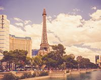Las Vegas Hotels and Resorts on Sunny Day stock photo