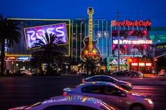 Las Vegas huvudsaklig gata på natten Royaltyfri Bild