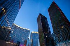 Las Vegas huvudsaklig gata på natten Royaltyfria Bilder