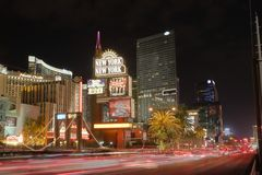 Las Vegas i rörelse Arkivbild
