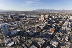 Las Vegas i stadens centrum antenn Arkivbild