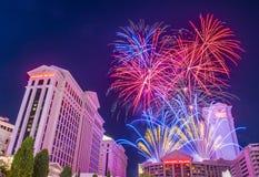 Las Vegas il quarto luglio Immagini Stock