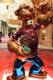 LAS VEGAS - The Jeff Koons Popeye Sculpture display in Las Vegas Royalty Free Stock Photo