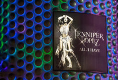 Las Vegas , Jennifer Lopez Royalty Free Stock Image