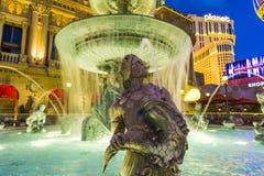 Springbrunn på den Cesars slotten på den Las Vegas remsan i Las Vegas Fotografering för Bildbyråer