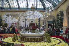 Las Vegas julskärm Arkivfoton