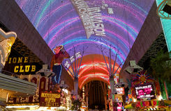 Fremont Street in Las Vegas, Nevada Royalty Free Stock Photography