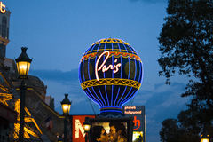 The  Hotel Paris Vegas with the Eiffel tower and gambling place Royalty Free Stock Photo