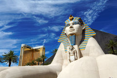 Statue of Sphinx from Luxor Hotel Casino Stock Images