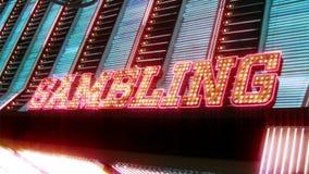 Las Vegas-Kasino-Leuchtreklame mit Blinklicht-Birnen stock video